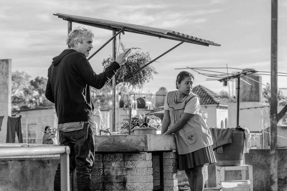 "Alfonso Cuaron on the set of ""Roma."" Photo: Carlos Somonte, HONS / Associated Press / Netflix"