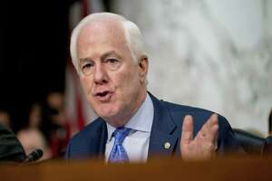 Sen. John Cornyn, R-Texas speaks as President Donald Trump's Supreme Court nominee, Brett Kavanaugh, a federal appeals court judge, appears before the Senate Judiciary Committee on Capitol Hill in Washington, Tuesday, Sept. 4, 2018, to begin his confirmation to replace retired Justice Anthony Kennedy. (AP Photo/Andrew Harnik)