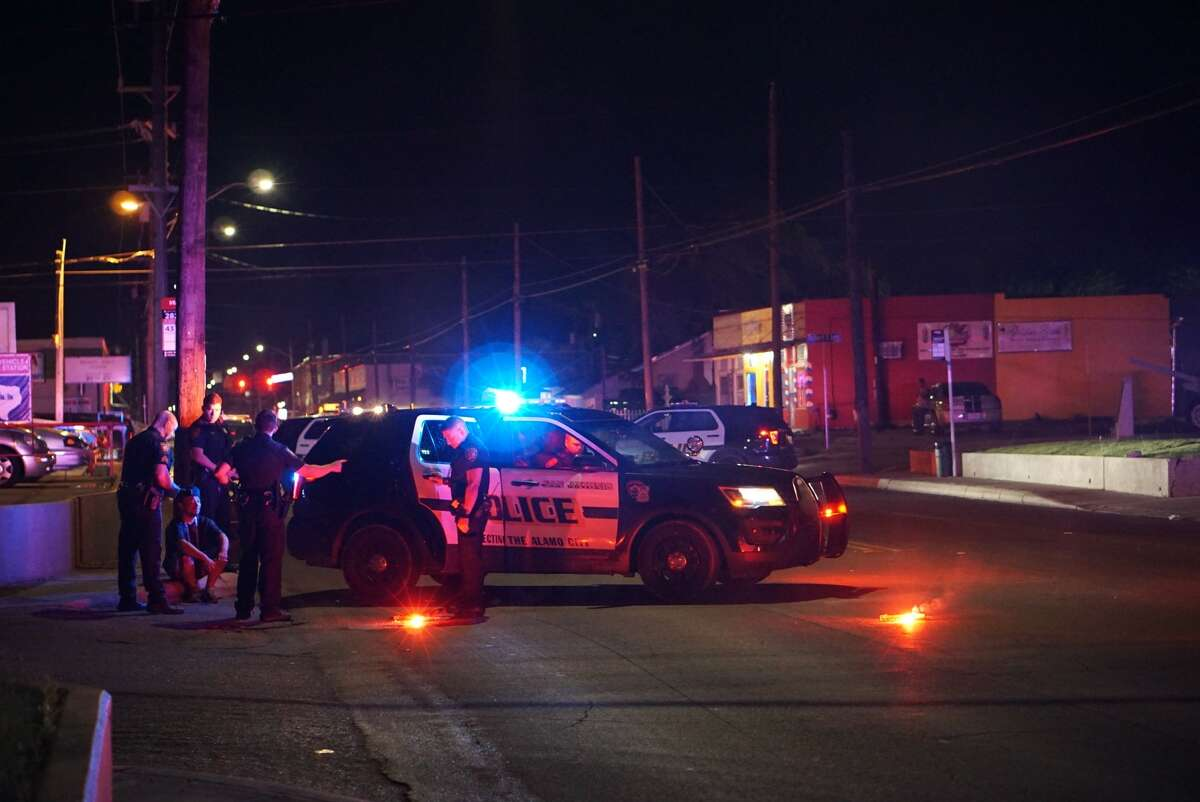 The 42-year-old woman was taken to San Antonio Military Medical Center, police said.