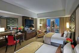 A room at the Waldorf Astoria in Las Vegas, formerly a Mandarin Oriental. (Image: Hilton)