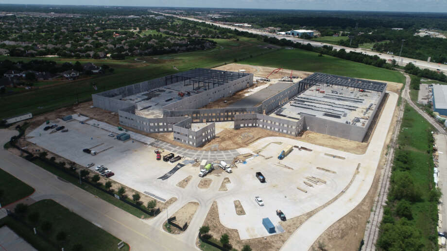 AIV topped out its new campus near Telge Road and Highway 290. Construction stands at 65 percent completion as of August 31. Photo: AIV