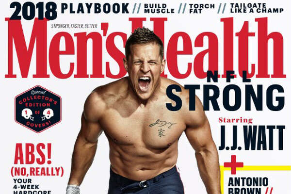 The Houston Texans' J.J. Watt appears on the cover of the October 2018 Men's Health issue.