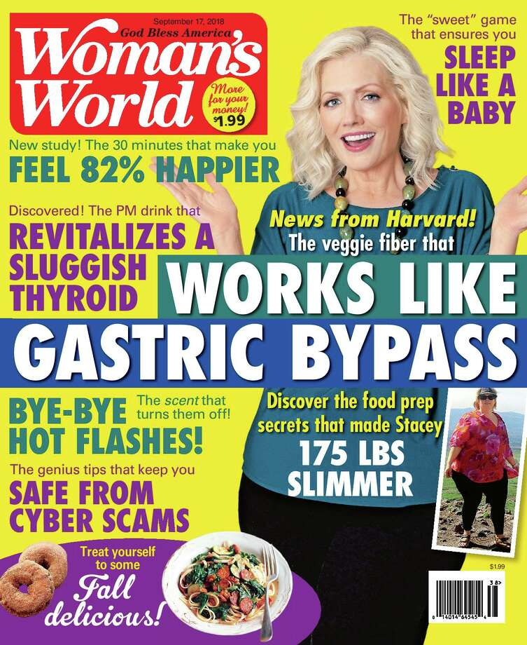 A cover image of Woman's World, featuring Albany resident Stacey Morris. (Provided by Stacey Morris) Photo: (Provided By Stacey Morris)