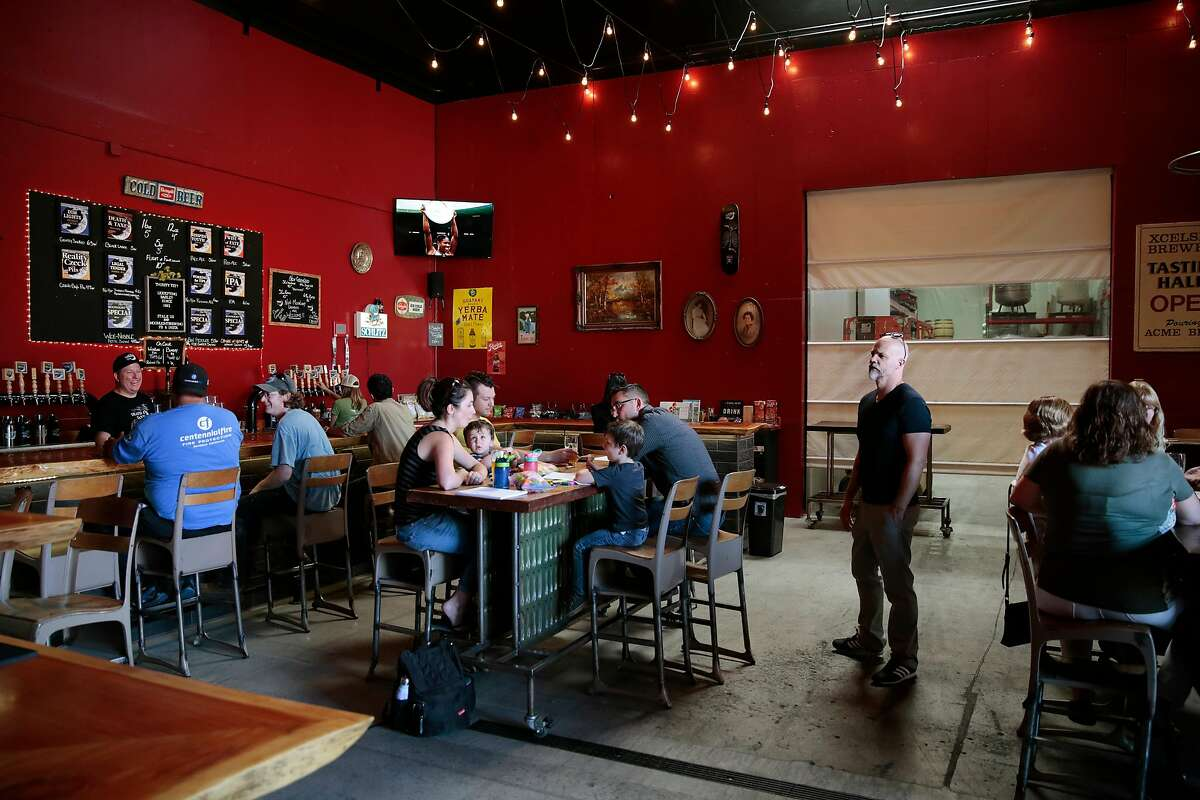 At the Moonlight Brewing Company taproom in Santa Rosa, California, Friday, August 31, 2018. Moonlight opened a new taproom attached to the brewery a few months ago. Ramin Rahimian/Special to The Chronicle