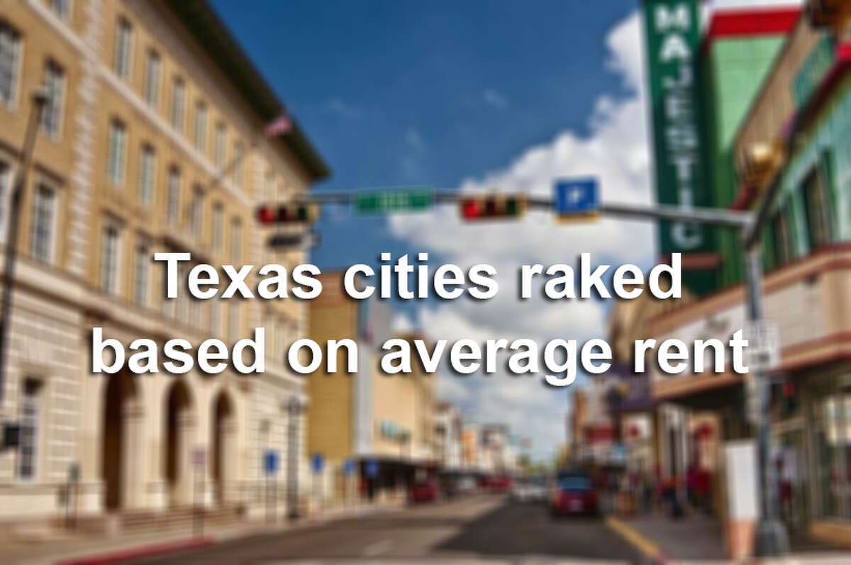 Texas cities ranked based on average rent.