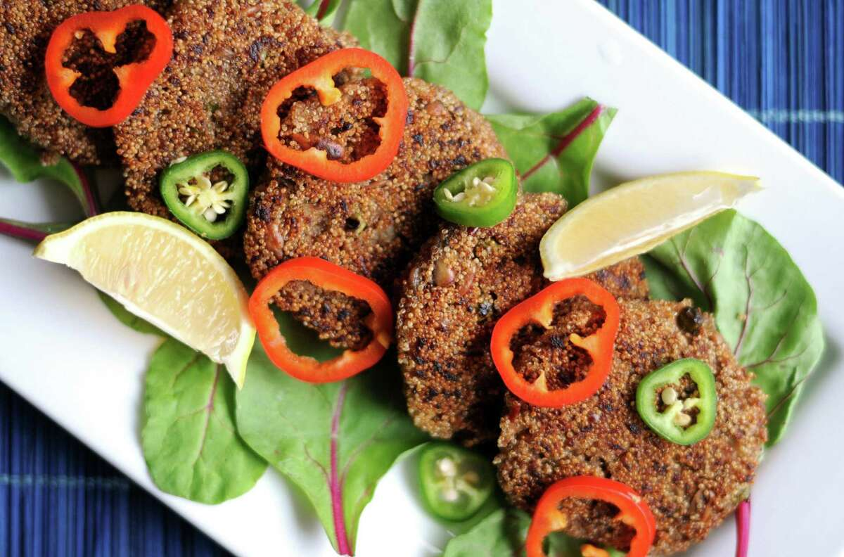 Amaranth and Sunflower Fritters