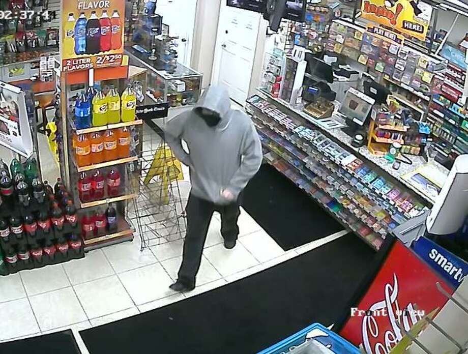State and Middletown police are searching for a man they believe brandished a knife and robbed four gas stations between Aug. 21 and Sept. 5. Photo: State Police Photo