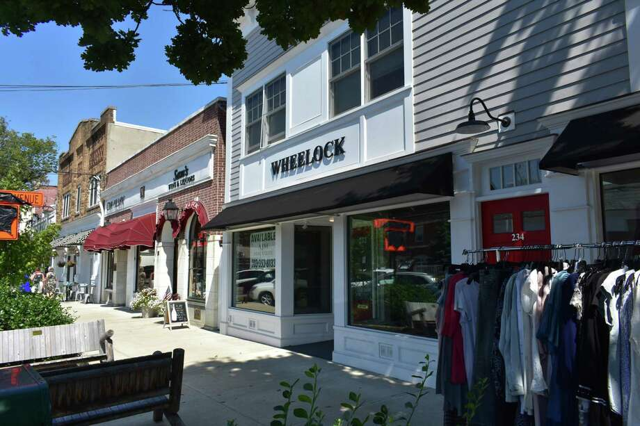 The former Wheelock Design storefront is one of just two available street-level retail spaces of some 50 in all along Sound Beach Avenue's main drag in Old Greenwich, Conn., as of early September 2018. Wheelock relocated in August to Putnam & Mason's space at 34 E. Putnam Ave., with Wheelock designing kitchens, baths and custom cabinetry. Photo: Alexander Soule / Hearst Connecticut Media / Stamford Advocate