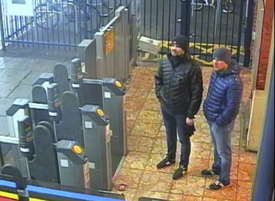 British prosecutors say these two men carried out the nerve attack on a former spy in Salisbury, England. Photo: Metropolitan Police / New York Times