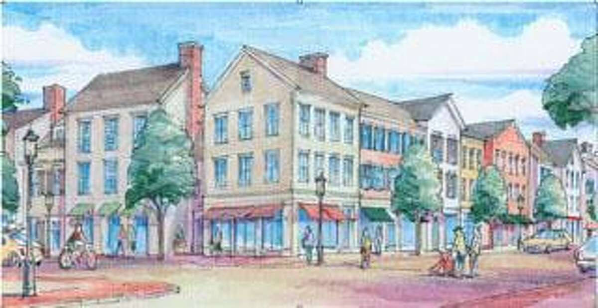 A sketch of the streetview of the proposed Corbin Project.