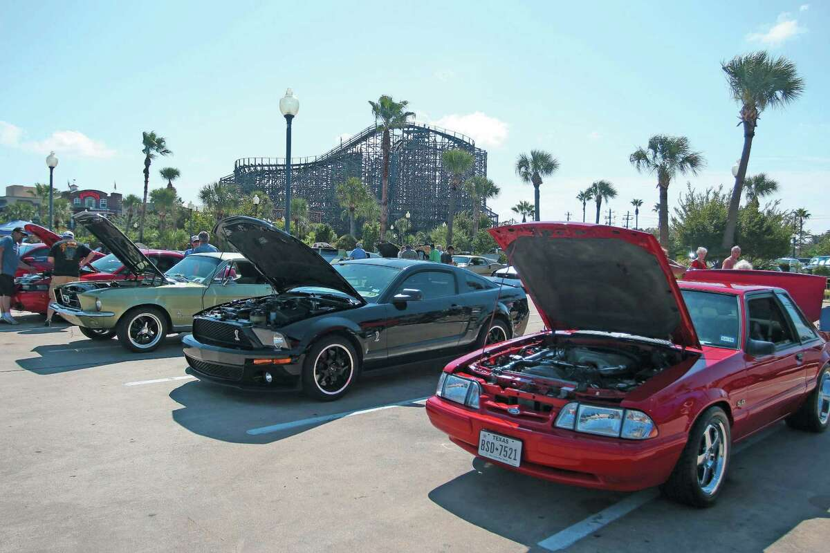 The Ford Mustang show at the Kemah Boardwalk brought dozens of cars for visitors to enjoy.