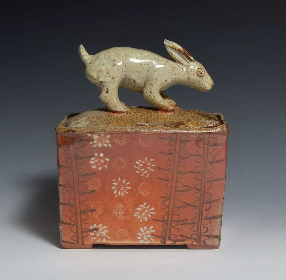 "Alison Palmer has a new show, ""Creatures Great and Small,"" opening Sept. 8 at the Sharon Historical Society museum. Pictured is ""Bunny Box."" Photo: Contributed Photo /"