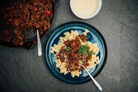 Kheema  pasta