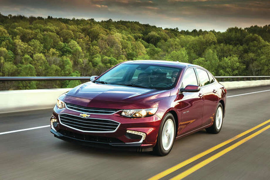This undated photo provided by General Motors shows the 2018 Chevrolet Malibu Hybrid. The vehicle offers noise-reducing side windows, Apple CarPlay and in-car Wi-Fi. Photo: Associated Press