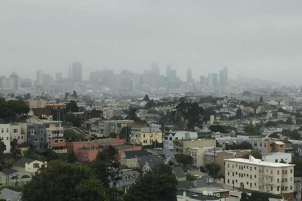 Fog blankets San Francisco on September 3, 2018.