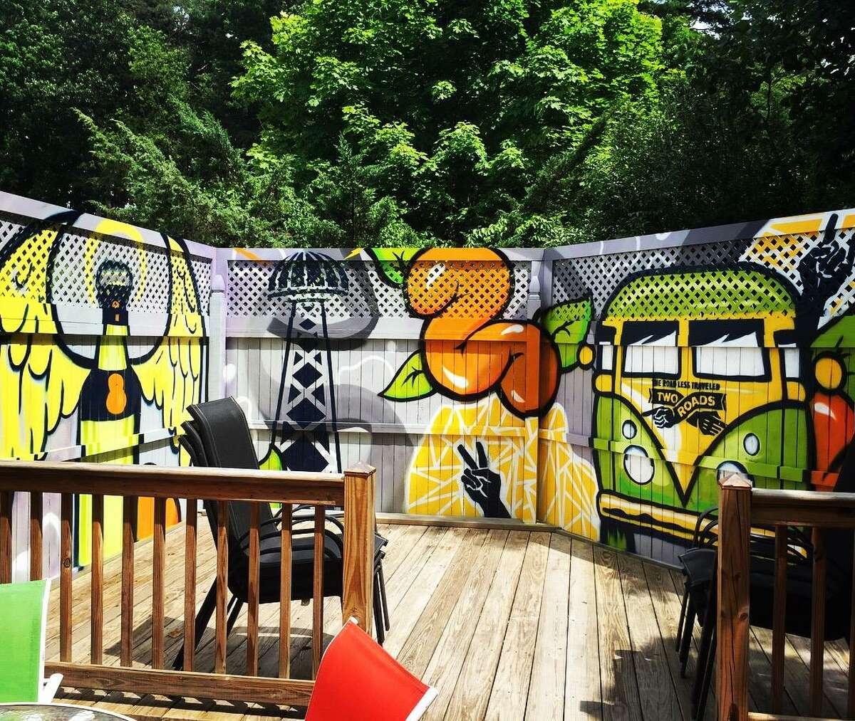 Steph Burr's vivid mural work.