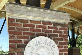 A sign marking Hamden's Villano Park, located at 260 Mill Rock Road.