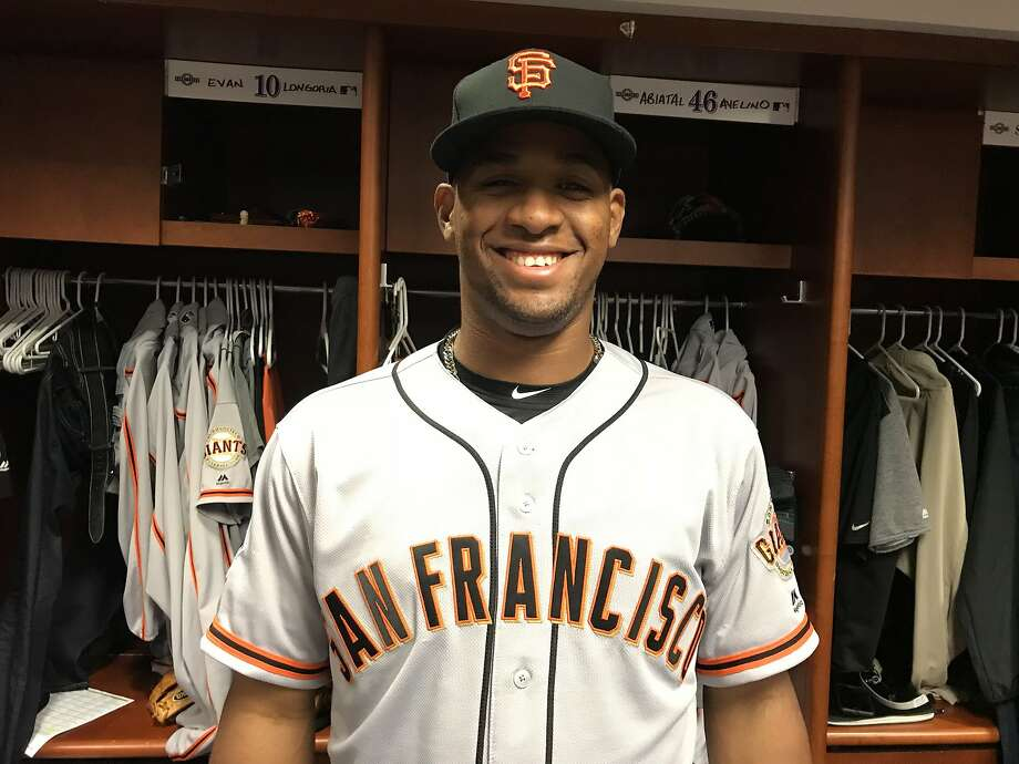 New Giants infielder Abiatal Avelino will get some work in the outfield, too, as the team hopes to take advantage of his speed and arm. Photo: San Francisco Giants