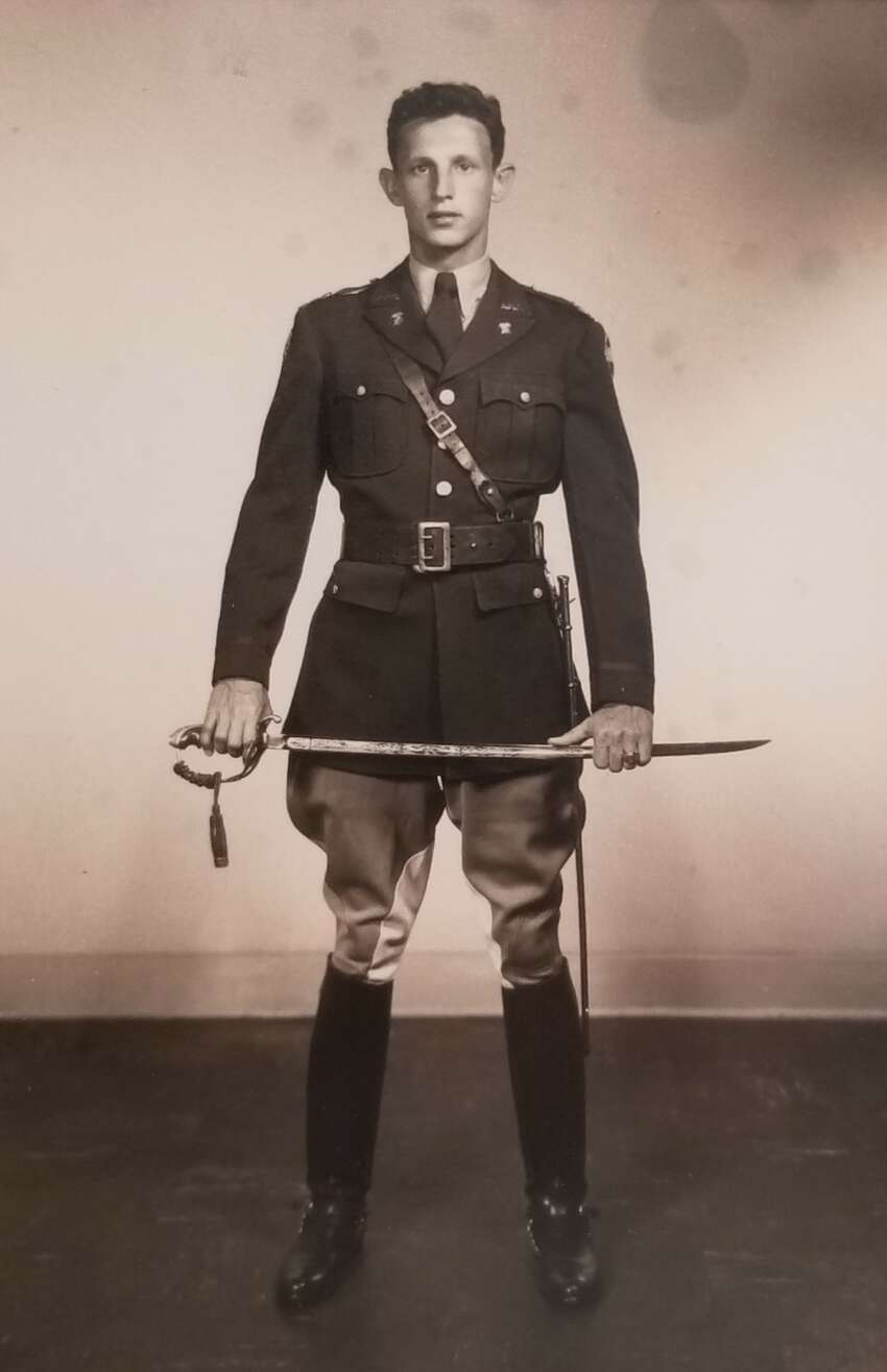 Sherman H. Hink in 1951 in a Texas A&M University Corp of Cadets uniform his senior year.