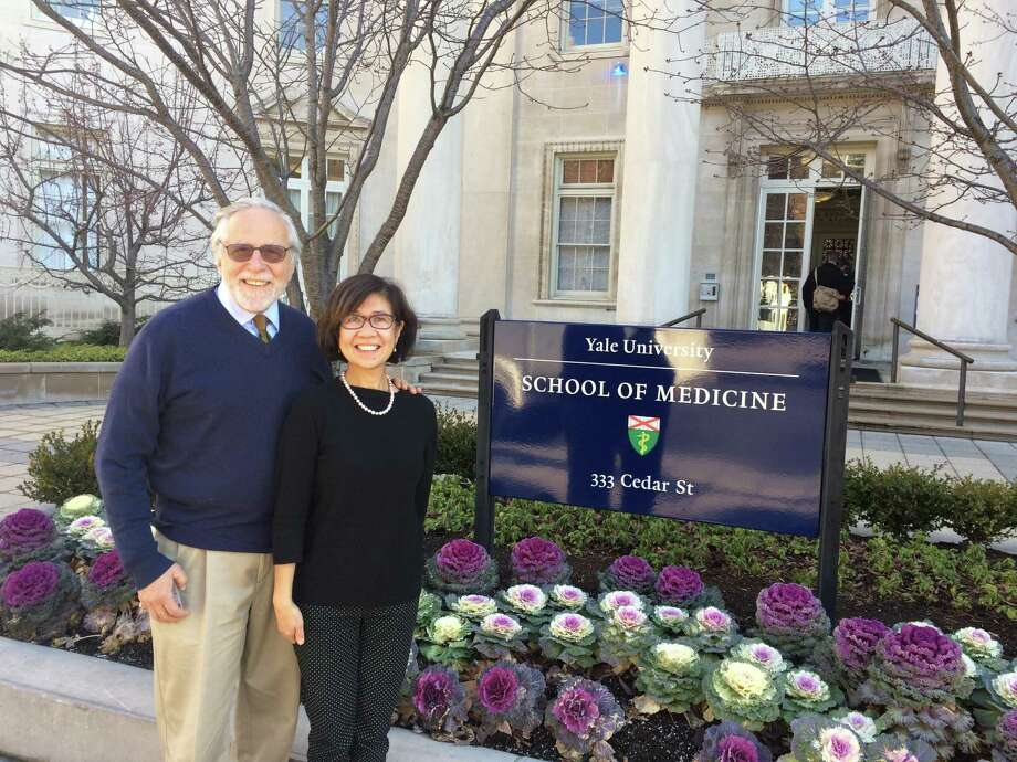 The Yale HIV/AIDS Program's current director, Dr. Merceditas Santos Villanueva, right, poses with her predecessor, Dr. Gerald Friedland, who headed the program from 1991 to 2010. Photo: Contributed / Yale School Of Medicine /