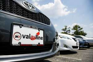 A car sits on the Val-U-Line at Sterling McCall Toyota, a Group 1 Auto dealership, which posted record sales, driven in part by strong used car sales Thursday July 26, 2018 in Houston. (Michael Ciaglo / Houston Chronicle)