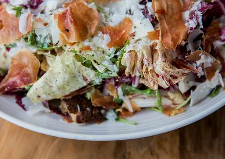 Chicory Caesar salad at Pearl. Photo: Jessica Christian / The Chronicle