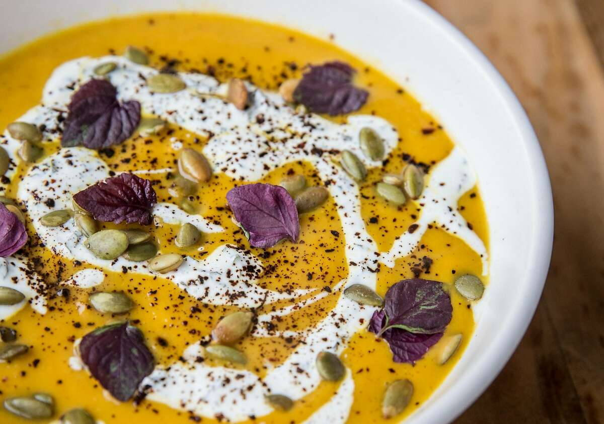 The berbere spiced carrot soup at Pearl in the Richmond district of San Francisco, Calif. Tuesday, Sept. 4, 2018.