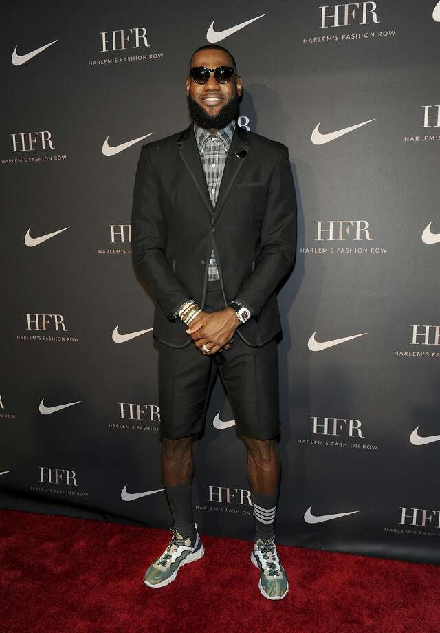 Honoree LeBron James attends a fashion show and awards ceremony held by the Harlem Fashion Row collective and Nike before the start of New York Fashion Week, Tuesday, Sept. 4, 2018. (AP Photo/Diane Bondareff) Photo: Diane Bondareff / Associated Press