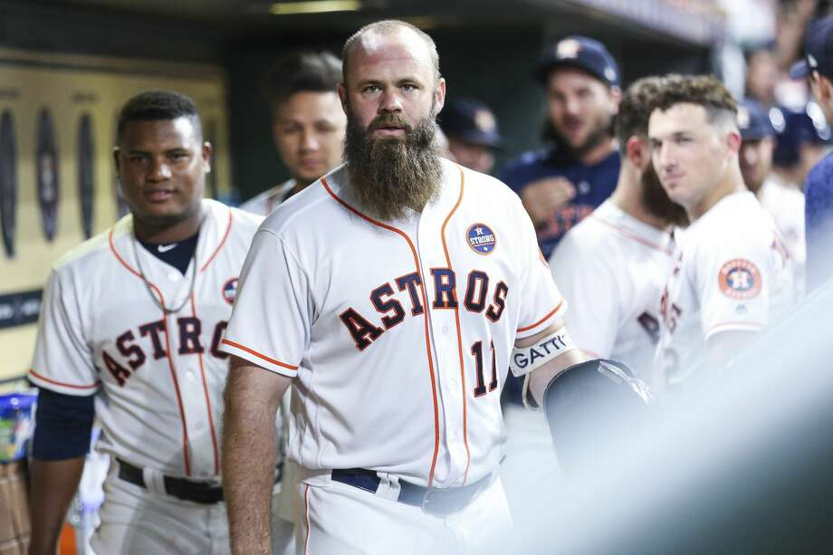 PHOTOS: Former Texas high school baseball stars still alive in the MLB playoffs Astros designated hitter attended three different high schools in Texas before his big league career. He's one of three players on the Astros' 40-man roster who played high school baseball in Texas. Go through the photos above to see all the players currently in the MLB postseason who played high school baseball in Texas ... Photo: Michael Ciaglo/Staff Photographer