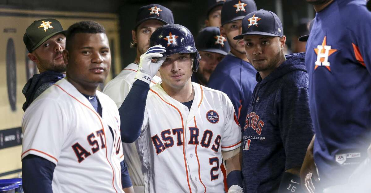 The post-home run dugout camera stares started by Astros third baseman Alex Bregman (2) became a rite of summer as the team won a franchise-record 103 games during the regular season.