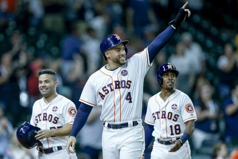 PHOTOS: Walk-up music for each Astros player this season Each Astros player has unique walk-up music played at Minute Maid Park whenever they step into the batter's box or make their way to the pitcher's mound. Go through the photos above to get a rundown of each Astros player's walk-up music this season ... Photo: Michael Ciaglo/Staff Photographer