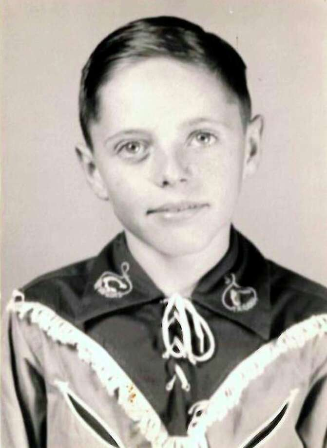This is Wayne Austin in grade school. 'I was so shy,' he said. 'I always sat in the back row. After I began performing, people would say you're Wayne Austin? Nobody could believe that was me up there on a stage.'