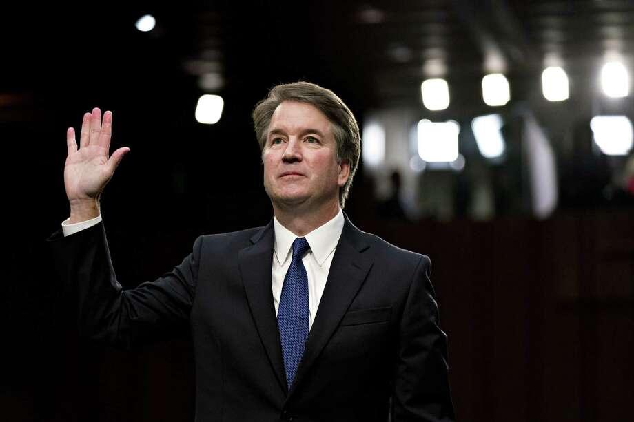 supreme court nomiinee brett kavanaugh at his senate judiciary committee confirmation hearing in washington on sept