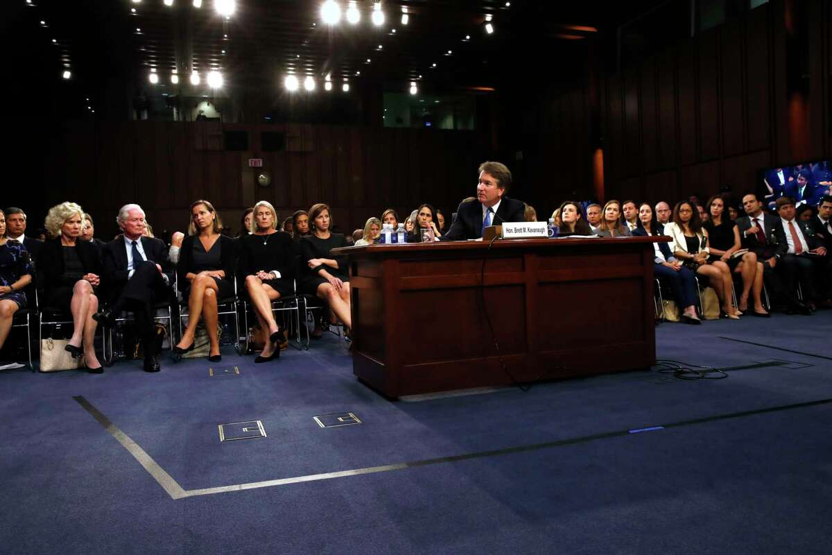 President Donald Trump's Supreme Court nominee, Brett Kavanaugh, is questioned in the evening on the second day of his Senate Judiciary Committee confirmation hearing, Wednesday, Sept. 5, 2018, on Capitol Hill in Washington, to replace retired Justice Anthony Kennedy.
