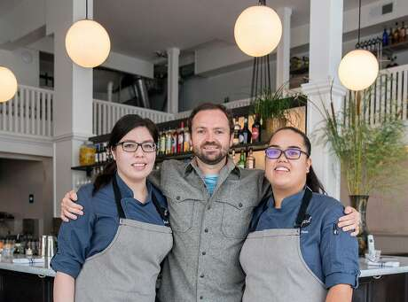 Chef Mel Lopez (left), owner Jack Murphy and chef Joyce Conway at Pearl in the Richmond District. Photo: Jessica Christian / The Chronicle