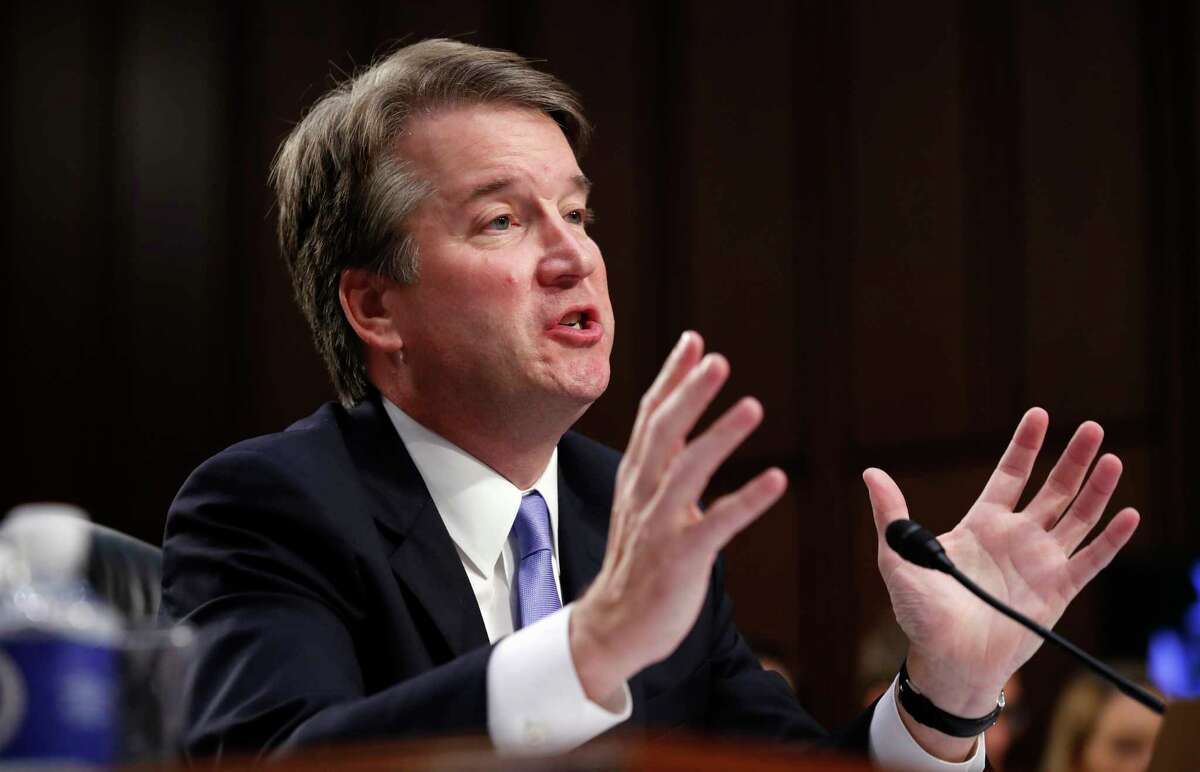 President Donald Trump's Supreme Court nominee, Brett Kavanaugh testifies before the Senate Judiciary Committee on Capitol Hill in Washington, Thursday, Sept. 6, 2018, for the third day of his confirmation to replace retired Justice Anthony Kennedy.
