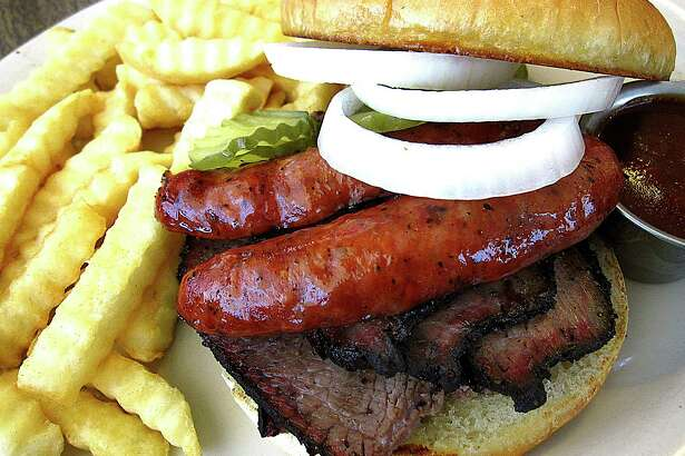 Great barbecue sandwich options in San Antonio include the brisket and sausage sandwich from Garcia's Mexican Food. Scroll through the story for more options, and click through this slideshow for more photos from each of this month's five sandwich places.