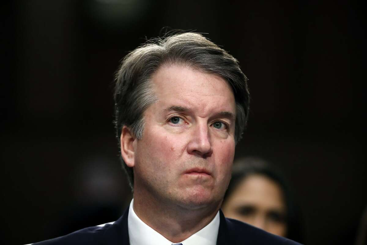 President Donald Trump's Supreme Court nominee, Brett Kavanaugh listens as he testifies before the Senate Judiciary Committee on Capitol Hill in Washington, Thursday, Sept. 6, 2018, for the third day of his confirmation to replace retired Justice Anthony Kennedy. (AP Photo/Alex Brandon)