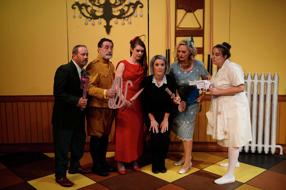 "Scenes from ""Clue"" photographed Aug. 30, 2018, at Midland Community Theater. James Durbin/Reporter-Telegram Photo: James Durbin / ? 2018 Midland Reporter-Telegram. All Rights Reserved."