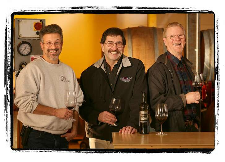 EASTBAYWINE10_286_cl.JPG Story on the East Bay Wine scene. Photo of some of the leading vintners. Photo was done at the winery of Tracey & Jared Brandt called, A Donkey and Goat. Photo of left-right: Jeff Cohn (JC Cellars), Kent Rosenblum (Rosenblum Cellars) and Steve Edmunds (Edmunds St. John). photo by Craig Lee / The Chronicle