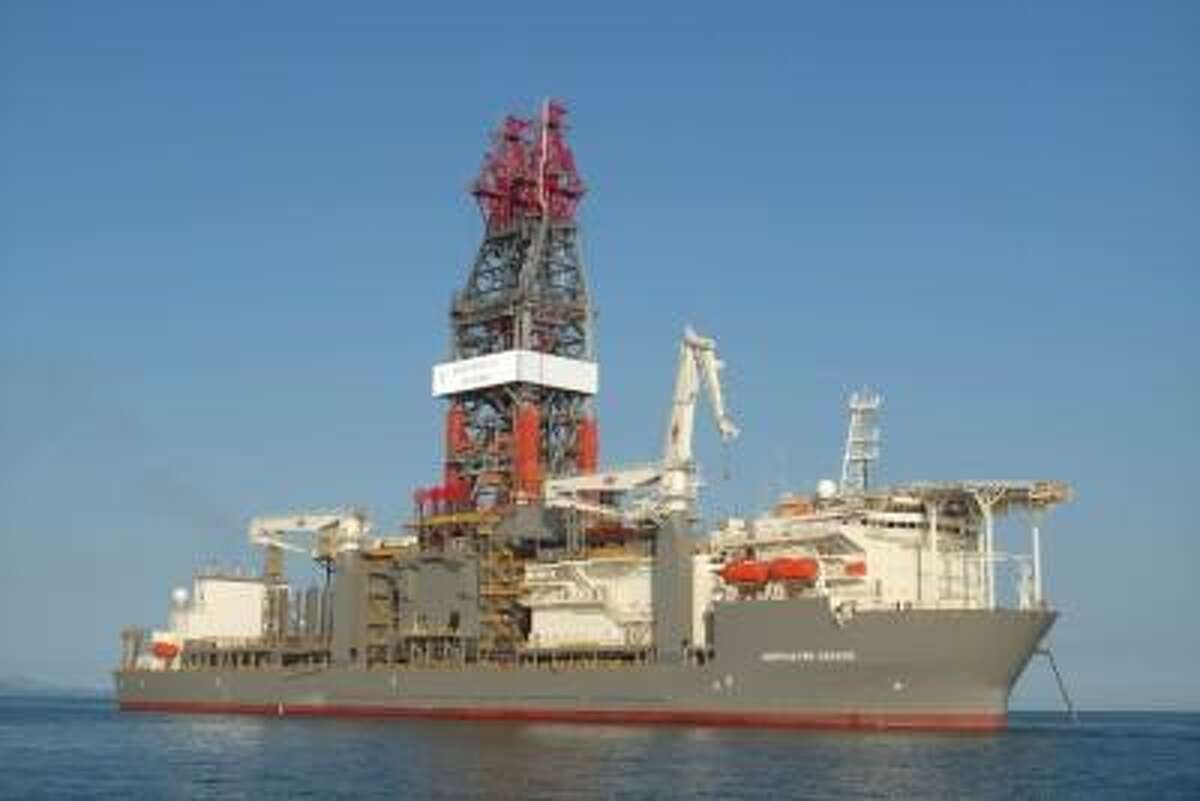 Transocean's drillship Deepwater Asgard arrived in the Gulf of Mexico in April 2015 to work under a two-year contract with Chevron. (Chevron photo)