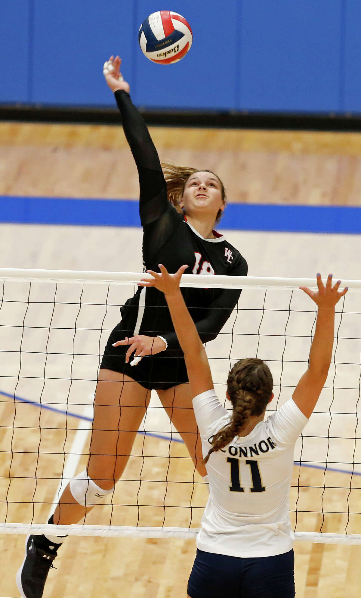Caroline Meuth: Churchill volleyball: 21 kills, 25 assists, 11 digs, 1 ace, 1 blocks in five-set win over New Braunfels Canyon