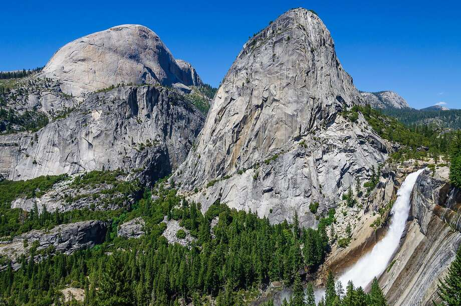 Nevada Fall in Yosemite National Park as seen on July 5, 2010. Tomer Frankfurter, an 18-year-old from Israel, died Wednesday in Yosemite National Park while reportedly trying to take a selfie. Frankfurter fell 820 feet while trying to take a photo of himself at the edge of Nevada Fall. Photo: Dreamstime / TNS