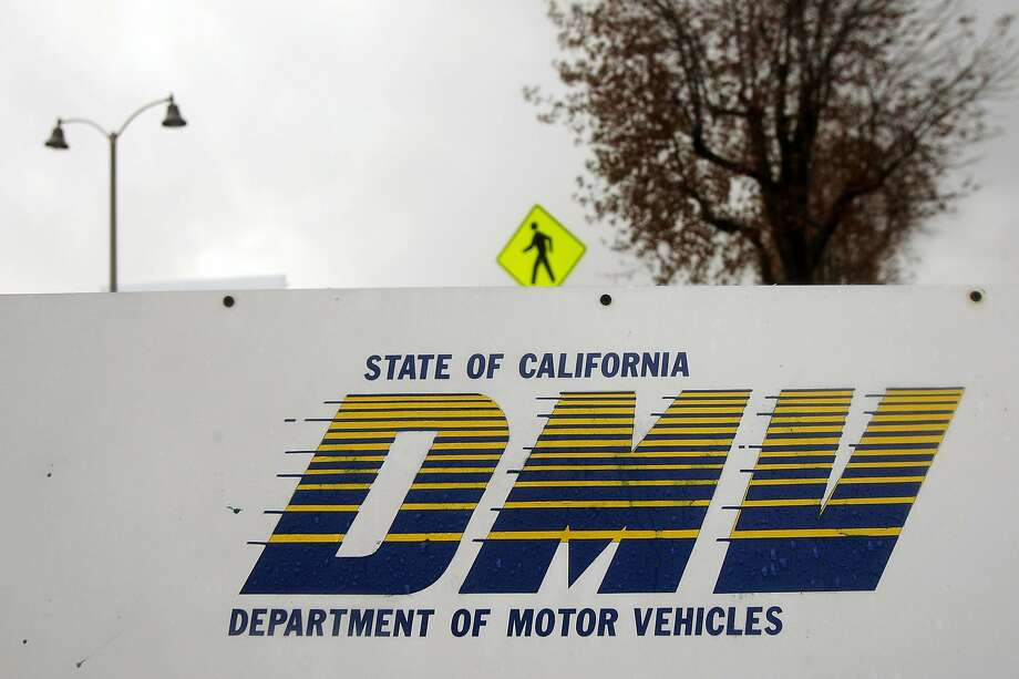 FILE - Signage is seen at the State of California Department of Motor Vehicles (DMV) on Feb. 6, 2009 in Pasadena, Calif. An information security researcher's creative idea for a custom license plate backfired when it caused him to get thousands of dollars in parking tickets. Photo: David McNew, Getty Images