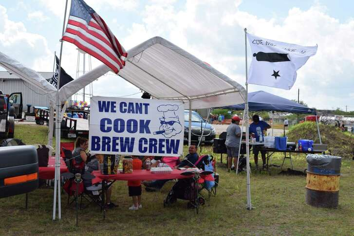 Local pit masters like this group from last year's competition will be among the home-grown cooking wizards participating in the Smoking Barrel Cookoff as part of the 25th annual Karnes City Lonesome Dove Fest.