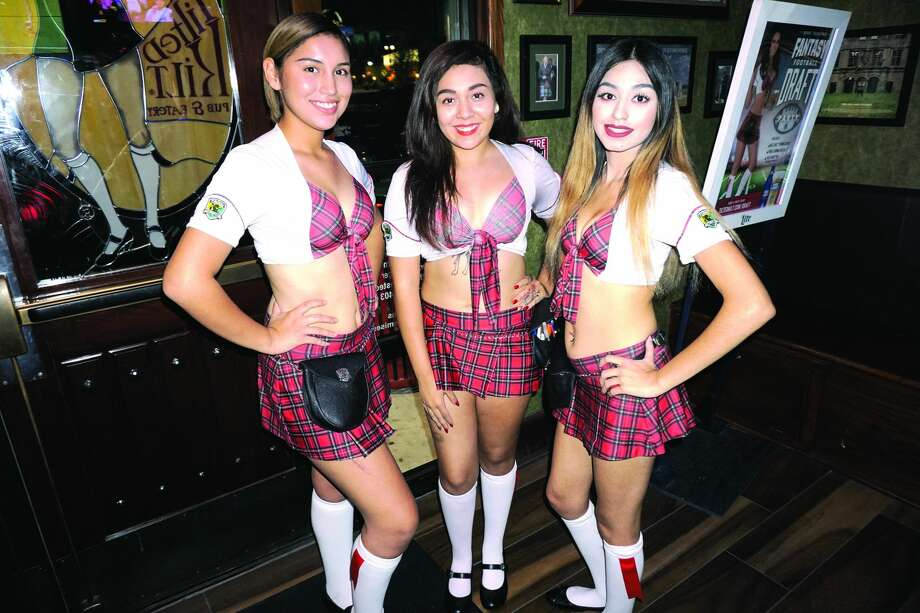 Seyla Flores, Paola Alejo and Jasmine Idrogo at Tilted Kilt Pub & Eatery