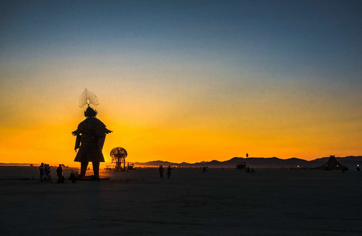 Participants attend Burning Man 2018, the largest outdoor arts festival in North America, in the Black Rock Desert of Gerlach, Nev. (