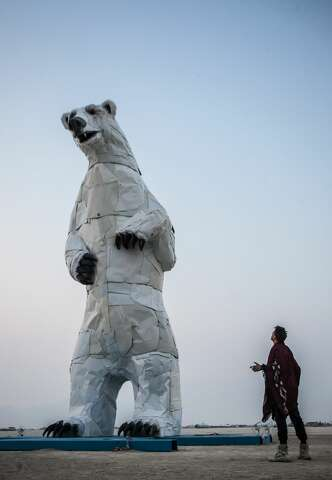 35-foot-tall polar bear stands guard at SF Ferry Building - SFGate