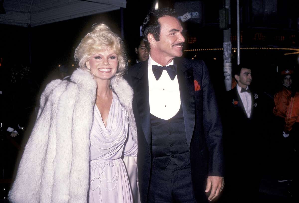 Actress Loni Anderson and actor Burt Reynolds attend the