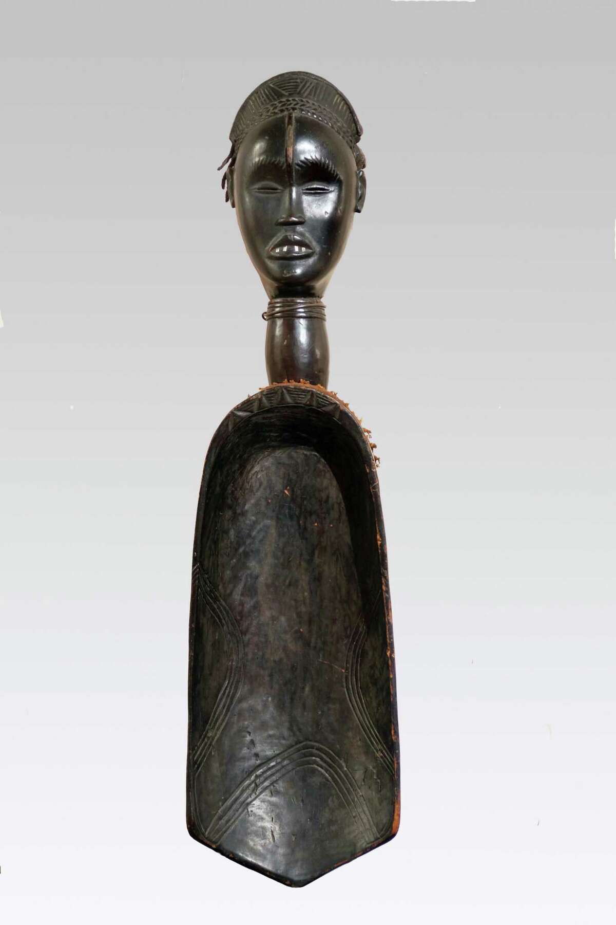 A ceremonial spoon or ladle carved by the artist Zlan eventually made its way to the Karob Collection in Boston.